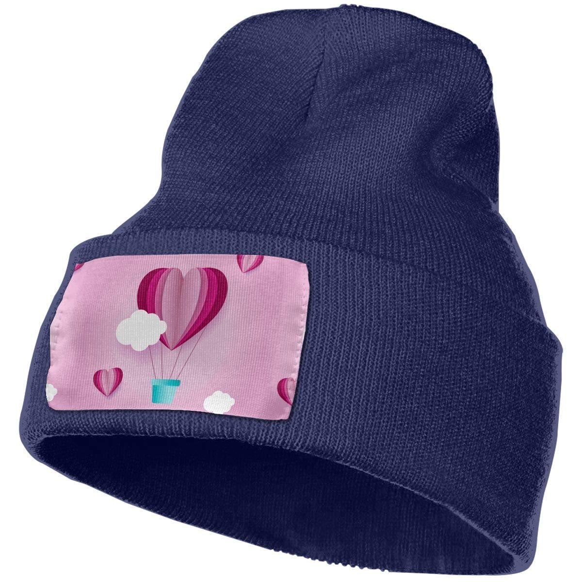 Love Hot Air Balloon Unisex Fashion Knitted Hat Luxury Hip-Hop Cap