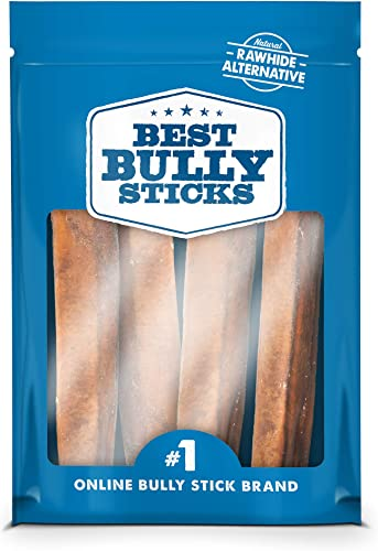 Best Bully Sticks Premium 6-Inch Jumbo Bully Sticks – All-Natural, Free-Range, Grass-Fed, 100 Beef Single-Ingredient Dog Chews