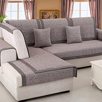 Astonishing Sofa Furniture Protector For Pet Or Dog Sofa Cover All Season Sectional Sofa Throw Cover Pad Solid Color Thicken Cotton And Linen Slip Cover C Pabps2019 Chair Design Images Pabps2019Com