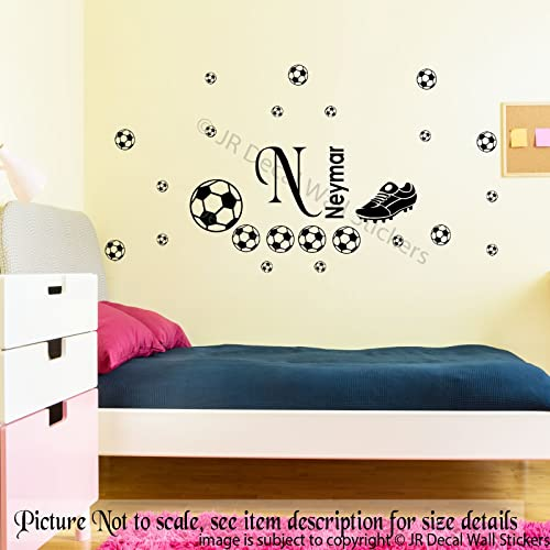 Football Boot Wall Stickers Personalized Name Removable Vinyl Decal Kid S Room Wall Art Nursery Room Decor Total 30 Stickers Amazon Co Uk Handmade