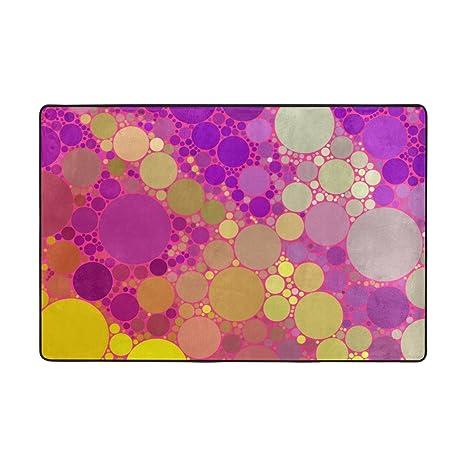 Amazon Com Top Carpenter Purple Gold Dot Area Rug Pad 36 X 24