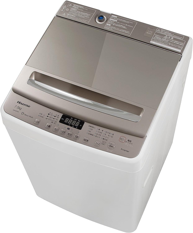 ハイセンス 全自動洗濯機 7.5kg 最短10分洗濯 HW-DG75A