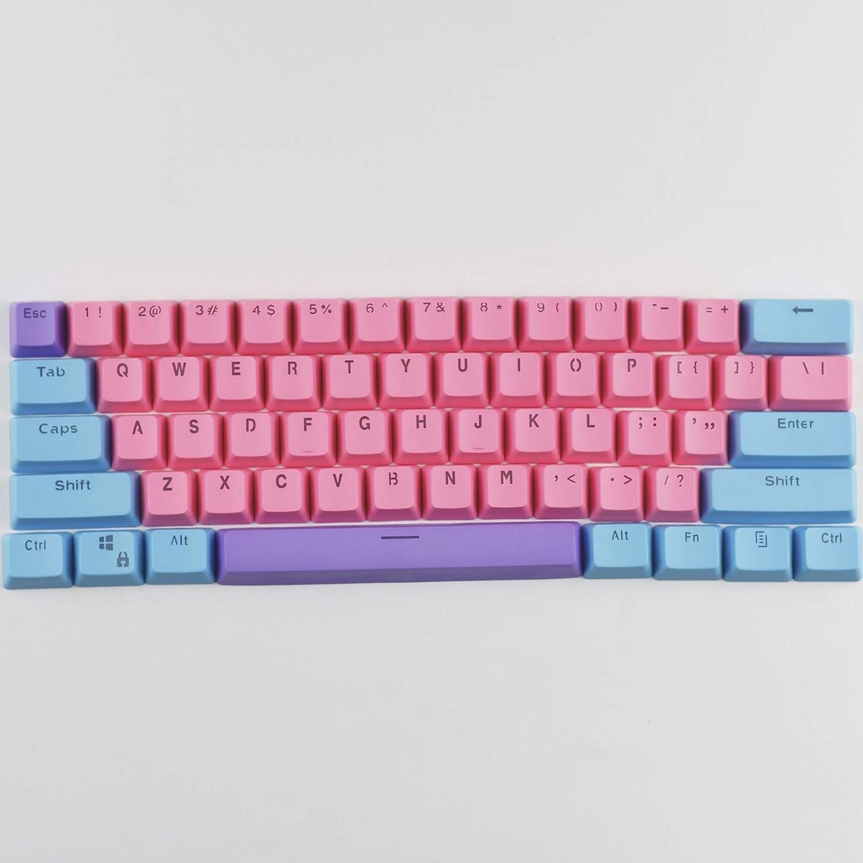 60/% Keycap PBT Keycap OEM Contour Keycap Suitable for MX Switch Transparent Letter Keycap