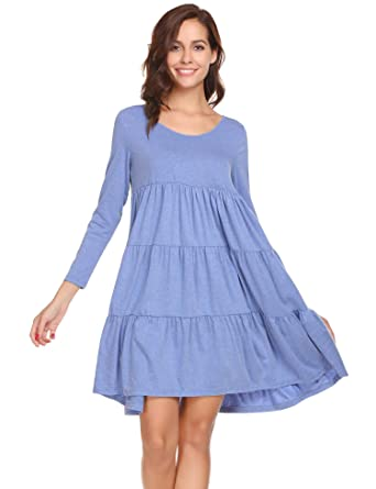 nuovo stile 7a156 3a561 Coorun Camicia da Notte a Pile di Lusso a Tutto Tondo ...