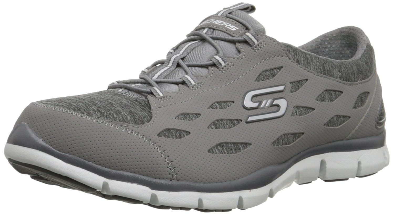 Skechers Sport Women's Gratis Bungee Fashion Sneaker B00PK32WEE 7 B(M) US|Grey