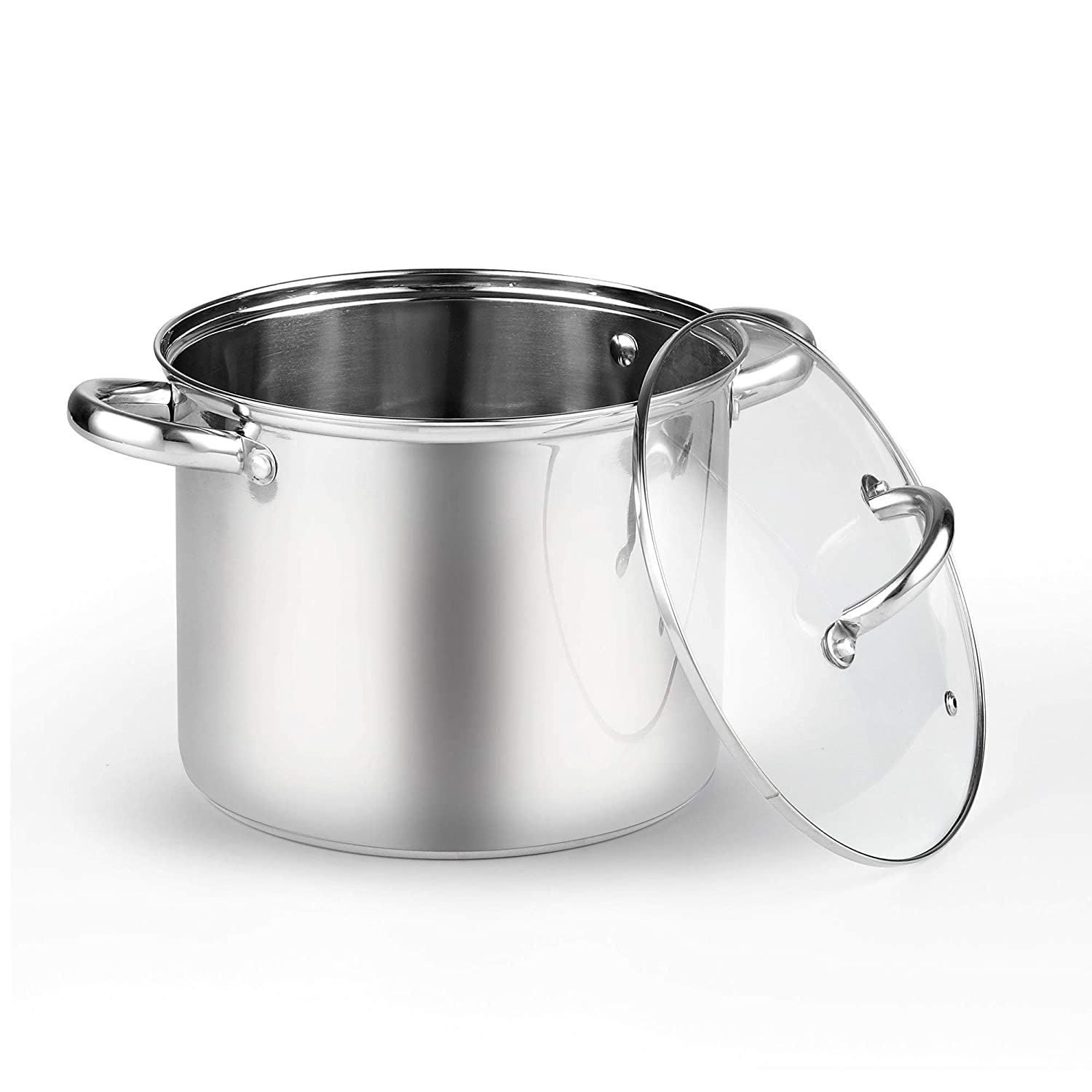Renewed Cook N Home 02401 Stainless Steel 4-Piece 8 Quart Pasta Cooker Steamer Multipots,
