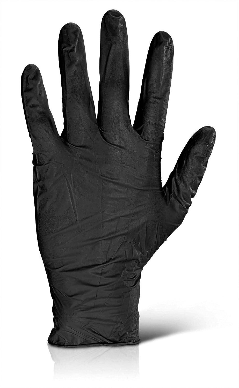 Nitril Untersuchungshandschuhe puderfrei schwarz L