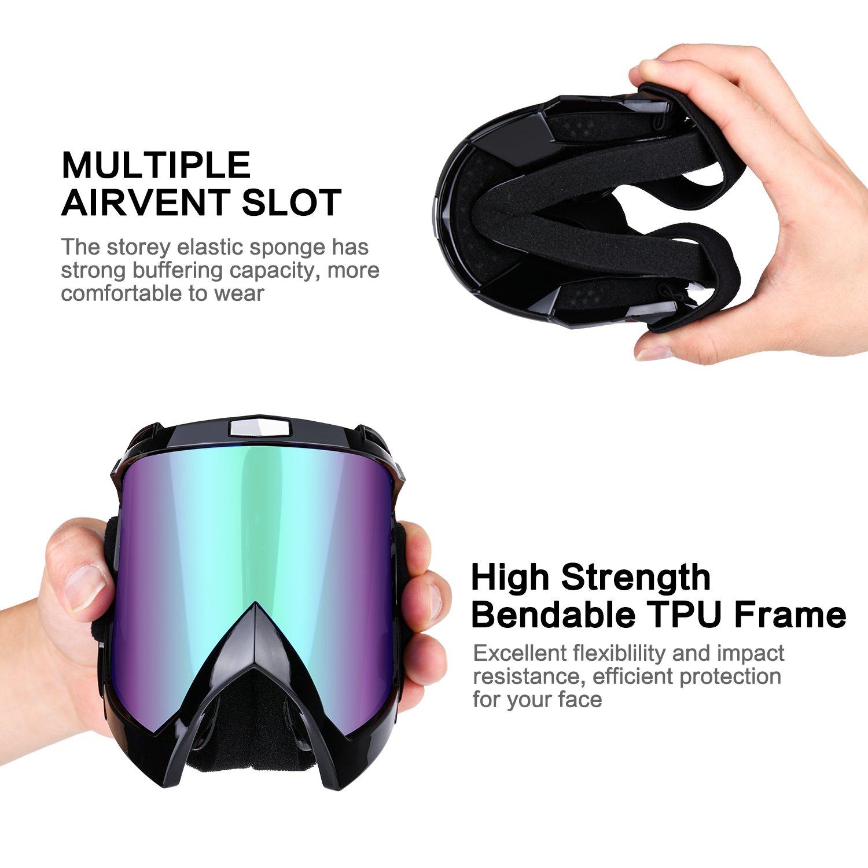 Motorcycle Goggles Anti UV Anti Fog Dustproof ATV Motocross Riding Glasses by CarBoss (Image #9)