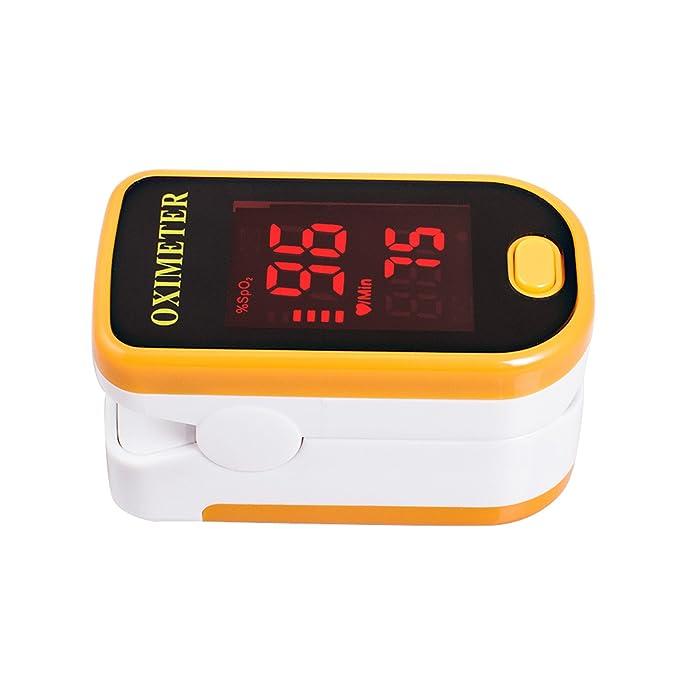Denshine LED Pulsoximetro De Dedo Portal Oxigeno En Sangre Monitor Spo2 y PR (Naranja): Amazon.es: Salud y cuidado personal