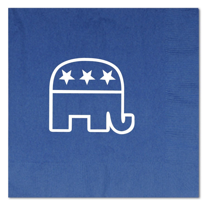 クラブパック192ブルーとホワイトの2層Republican Luncheon Napkins B01FG0RTI4