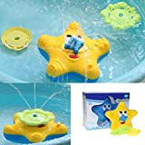 LITTLEPIG Baby Bath Toy Starfish Floating Bathtub Sprayer Shower Electronic Rotating Water Fountain for kid