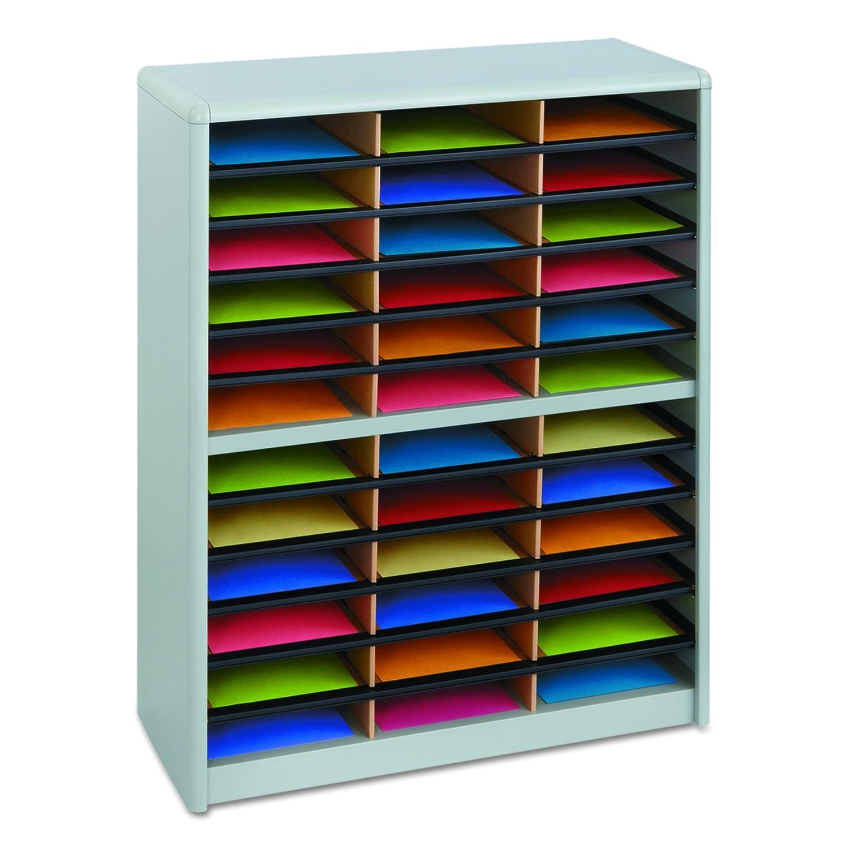 Safco Products Value Sorter Literature Organizer, 36 Compartment, Black (7121BL)
