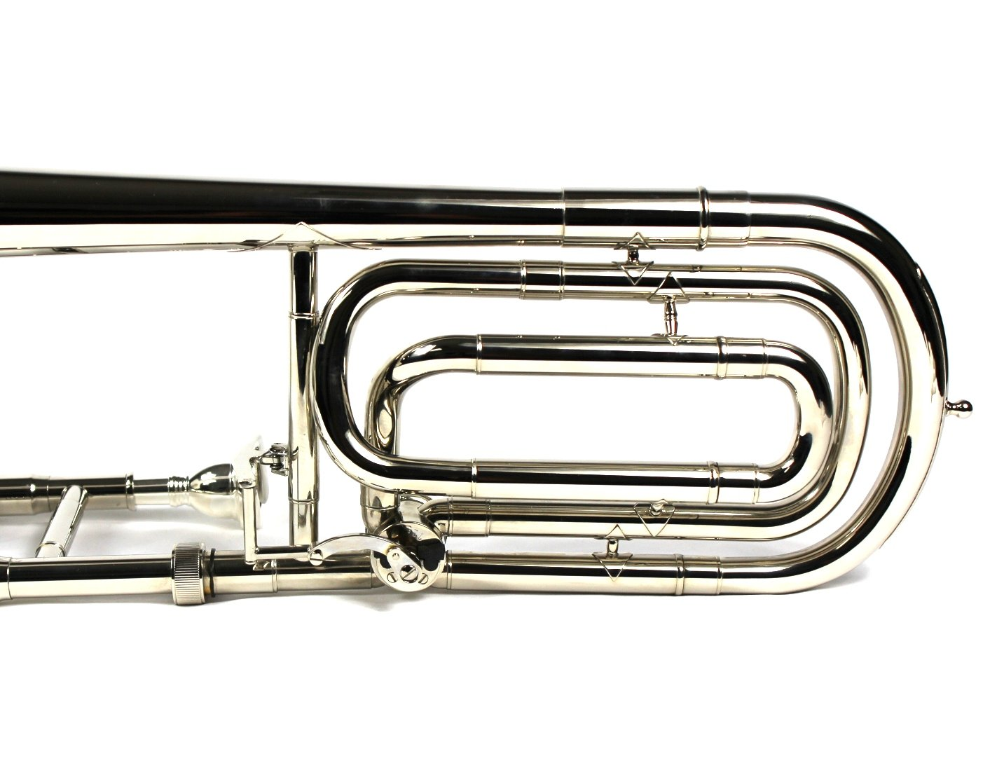 Brand New Bb/F Bass Trombone w/ Case and Mouthpiece- Nickel Plated Finish by Moz (Image #7)