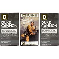 Duke Cannon Limited Edition WWII Big A Brick of Soap for Men, 10oz - Accomplishment (3 Pack)