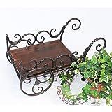 Carriola-piante HX12596 Carriola Carretto Fioriera Porta fiori Sgabello