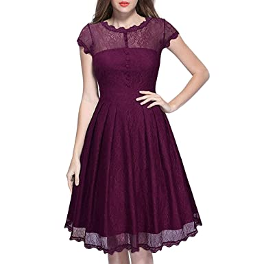 KYEYGWO Vintage Party Dresses for Women 86b0d9f43
