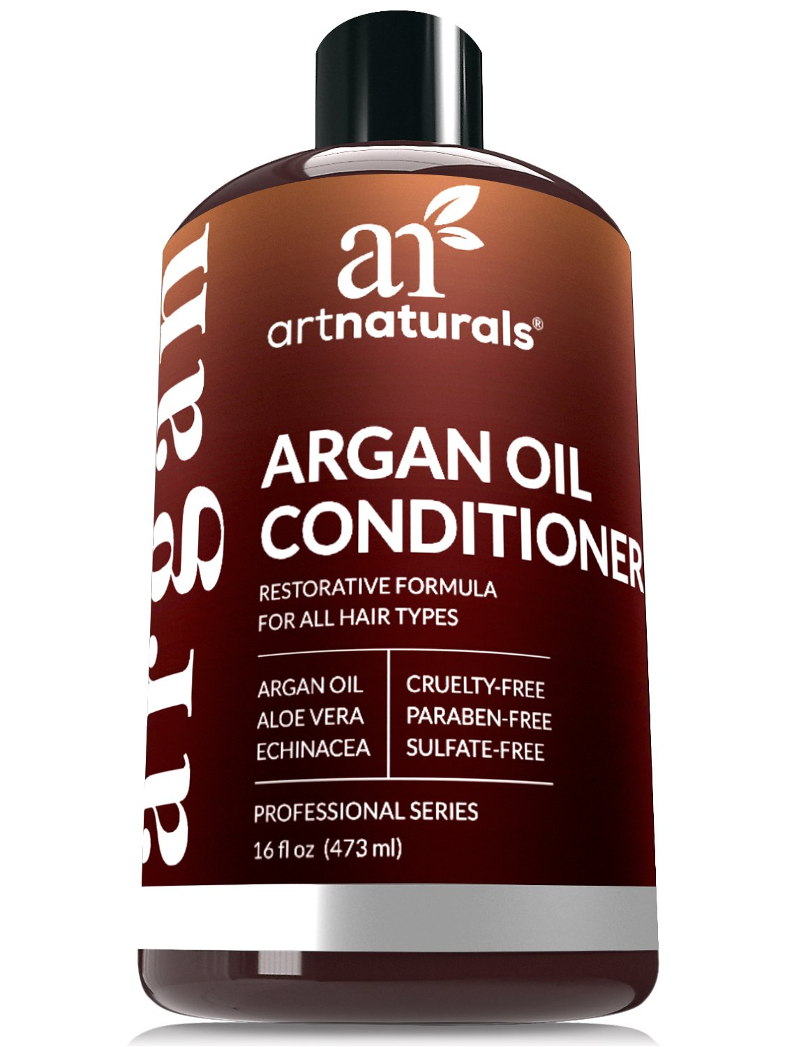 ArtNaturals Argan Oil Hair Conditioner - 16 Oz - Sulfate Free - Best Treatment for Damaged & Dry Hair - Made with Organic Ingredients & Keratin - For All Hair Types - Safe for Color Treated Hair by ArtNaturals