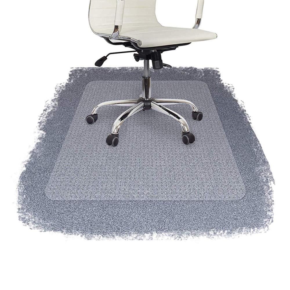 Office Chair Mat Carpet Floor Protection Transparent Rectangular with Lip High Impact Strength,Rectangle