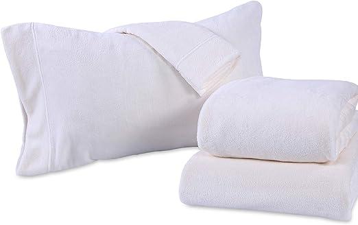 New Berkshire Polarfleece Queen Sheet Set All Season Warmth Grey 6pc Set