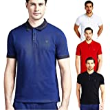 Guess Men's Cullen Size Ss Polo Polos, Red (Tulip Red) S (M91P09K7O60)