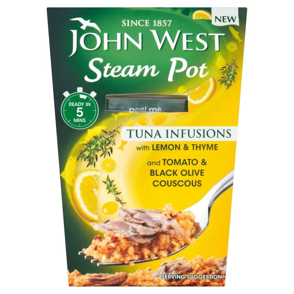 John West Steam Pot Tuna with Lemon & Thyme & Couscous (150g) by John West