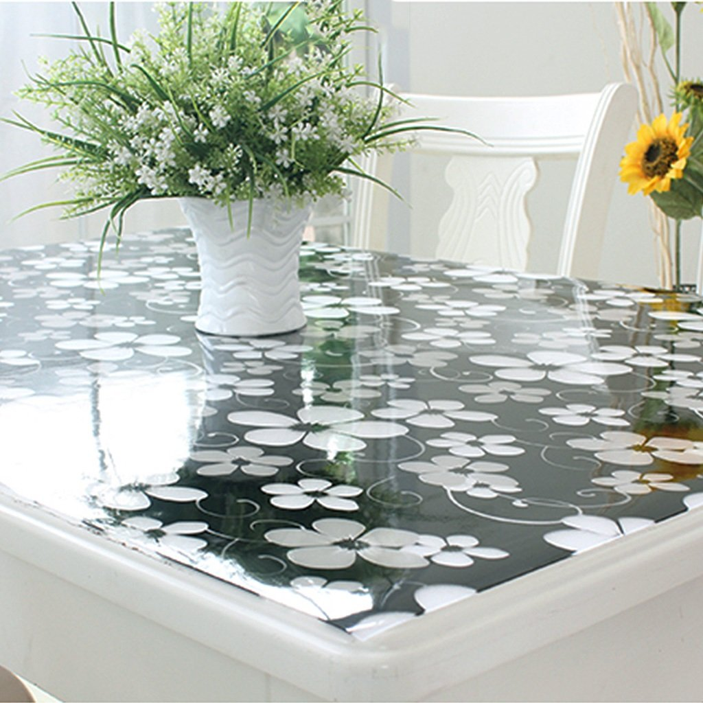 Gtt Soft glass PVC tablecloth waterproof anti-scalding Taiwan crystal table transparent coffee table Transparent pad (color   C, Size   40x60cm)