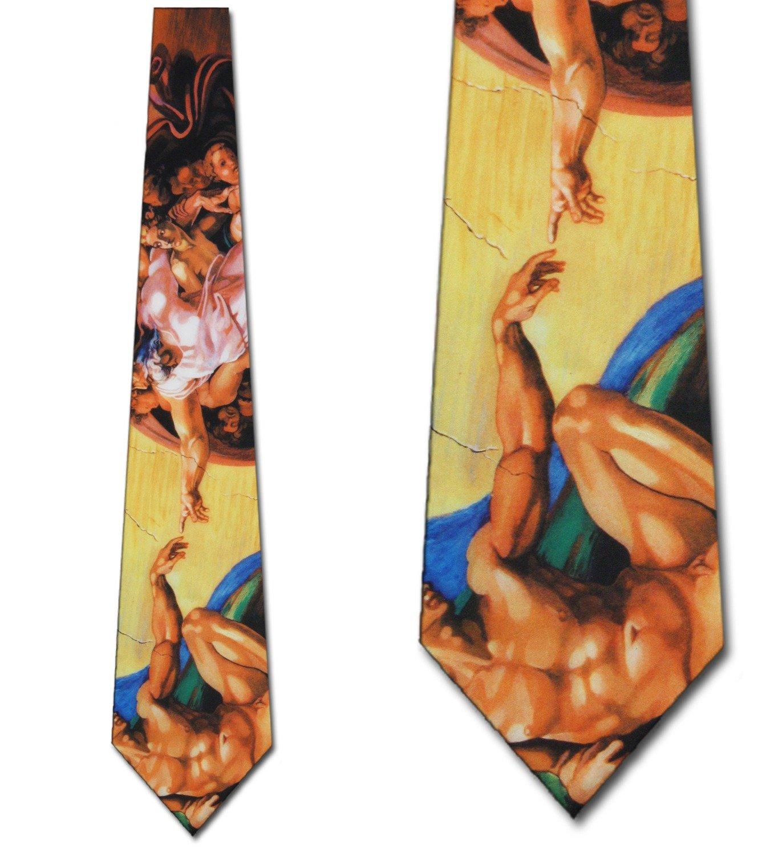 Michelangelo Creation of Adam Tie NeckTies by Three Rooker