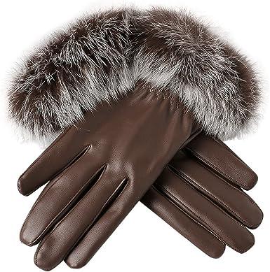 Ladies Womens White Faux Fur Gloves Fingerless Sparkle Winter Texting