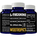 L-Theanine Capsules for Anxiety Relief, Improved Sleep Quality and Added Concentration - Theanine Nootropic for Improved Cognitive Performance by WodTropic, 100%