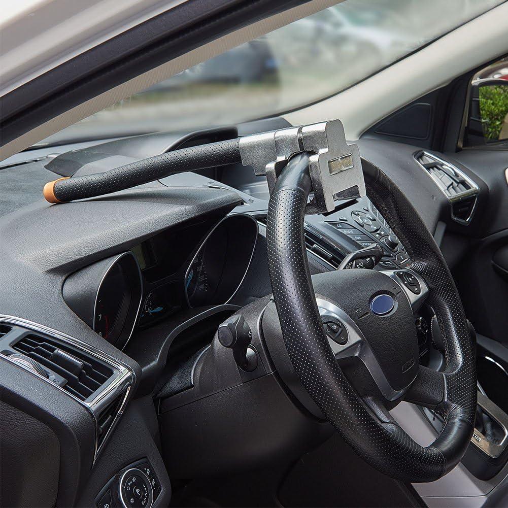 Brown Car Universal Foldable Car Steering Wheel Anti-Theft Three-Direction Airbag Lock