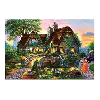 1000 Pieces Jigsaw Puzzles for Adult - Kids Educational Toy - Horse Sports, Spring Colorful Flower Mountain River, Paris Ireland Italy Nature Beach, Art Animal Dog Bird Deer, Small Medium map Size: Toys & Games