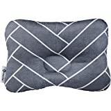 W WelLifes Baby Pillow for Newborn Breathable 3D Air Mesh Organic Cotton, Protection for Flat Head Syndrome Marble Grey