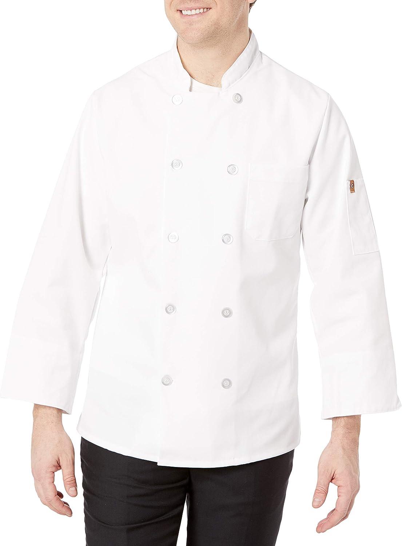 Chef Designs Men's Rk Ten Pearl Button Chef Coat