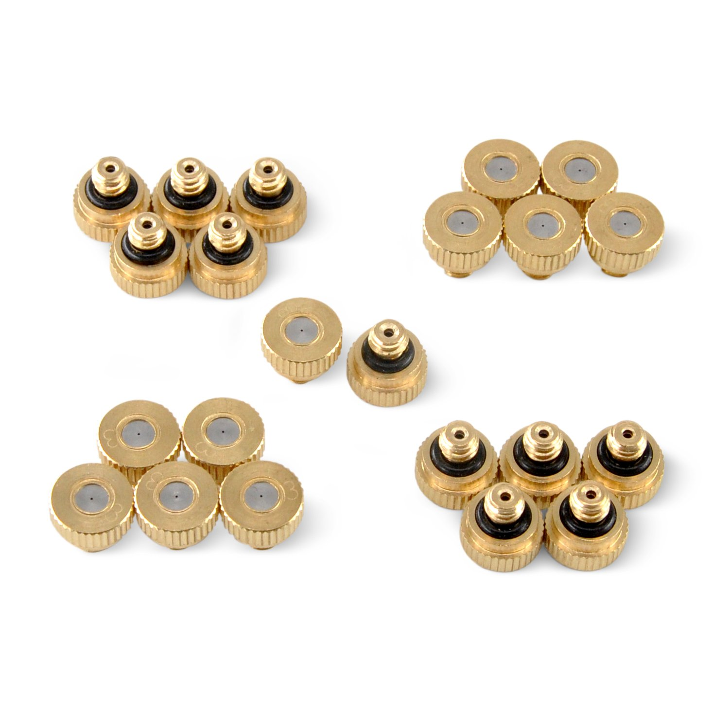 Aootech Brass Misting Nozzles for Outdoor Cooling System 22 pcs,0.012'' Orifice (0.3 mm) 10/24 UNC