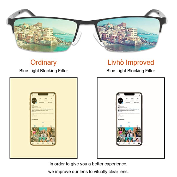 1d635a531c20 Amazon.com  Livhò Blue Light Blocking Glasses