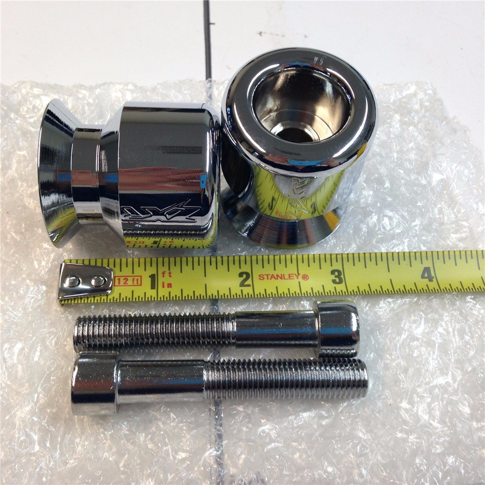 XKH GROUP Chromed ZXR Engraved 10MM Swingarm Spools For Kawasaki Ninja 250R 650R Zx 6R 9R 10R 12R 14R Zzr