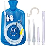 Smokitcen Enema Kit – 2L Enema Bag– 5.0ft. Long Silicone Hose – 5 Multi-Size Reusable Tips – Controlled Water Flow – for Colo