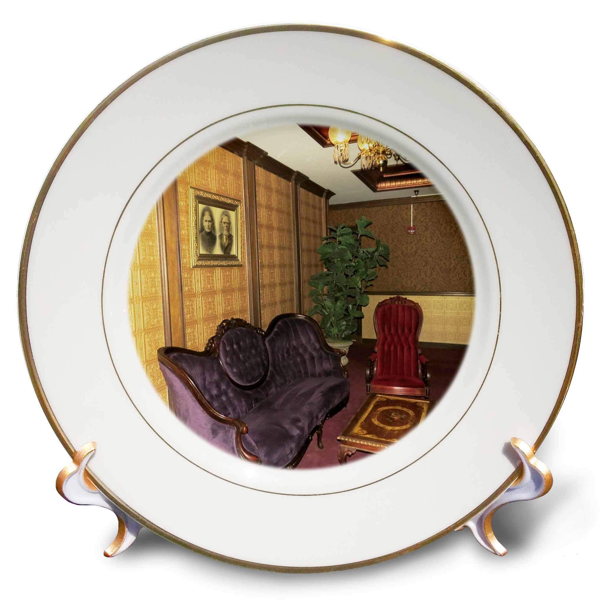 3dRose Jos Fauxtographee- Mizpah Hotel Lounge - One of The Many lounges in The Mizpah Hotel in Nevada - 8 inch Porcelain Plate (cp_291362_1)