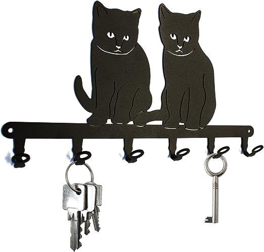 Key Holder Cat Babies Beautiful Key Hook For Wall 6 Hooks Amazon Co Uk Kitchen Home