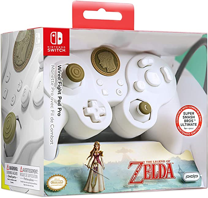 Manette filaire - Nintendo Switch - Princesse Zelda Super Smash ...