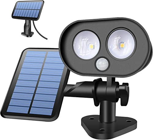 Solar Motion Sensor Lights Outdoor, SONATA Solar Flood Lights Outdoor LED Solar Spot Lights with Bionic Owl Shape for Porch Yard Driveway Pathway, IP65 Waterproof, 6500K