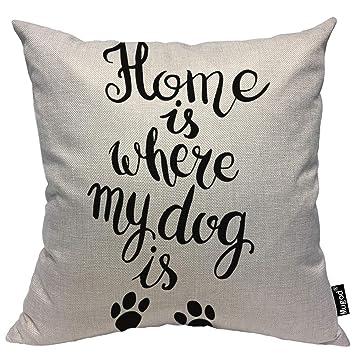 Amazon.com: Mugod Peony Funda de almohada cuadrada de lino y ...