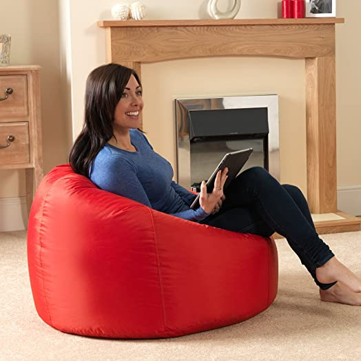 Bean Bag BazaarR Panelled XL Chair Indoor Outdoor RED