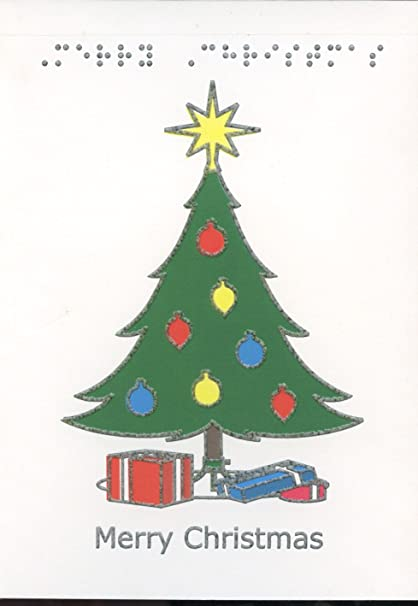 Braille y táctil tarjeta de felicitación feliz Navidad, regalos ...