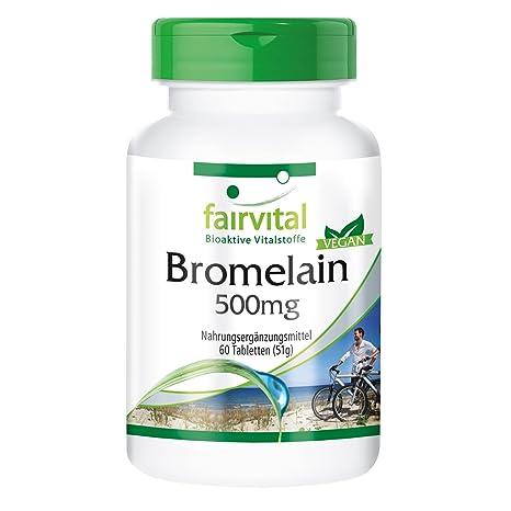 La bromelina 500 mg - para 2 meses - VEGAN - ALTA DOSIS - 60 comprimidos