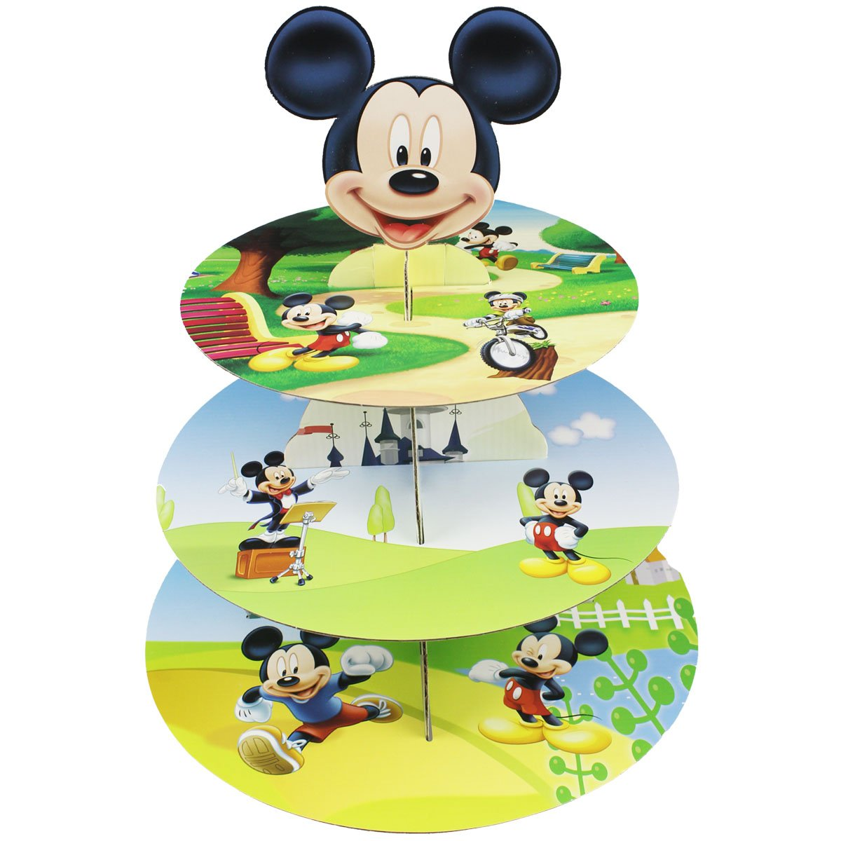 Betop House 3-Tire Mickey Mouse Themed Party Cupcake Dessert Stand