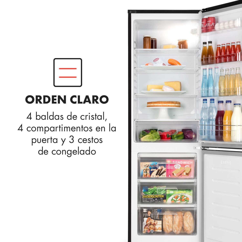 Klarstein Luminance Frost - nevera con congelador, refrigerador de ...