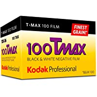 Kodak Professional T-Max 100 Black and White Negative Film (35mm Roll Film, 36 Exposures)- 8532848, Yellow/red