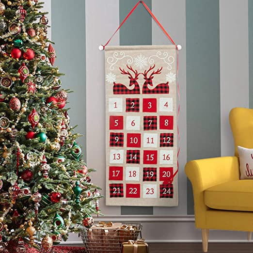 s Countdown To Christmas 2020 Amazon.com: S DEAL Burlap Christmas Advent Calender 2020 Countdown