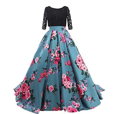 6e10a462652 ZVOCY Floral Print Quinceanera Dresses Ball Gowns Black Lace Sleeve Prom  Evening Dress Long Plus Size
